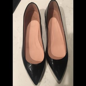 J. Crew Black Patent Leather Shoes (10) New